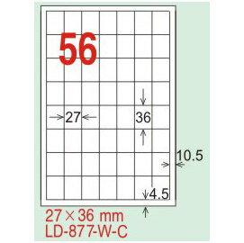 【龍德】LD-877(直角-可再貼) 雷射、噴墨、影印三用電腦標籤 27x36mm 20大張/包