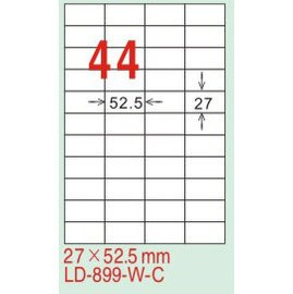 【龍德】LD-899(直角-可再貼) 雷射、噴墨、影印三用電腦標籤 27x52.5mm 20大張/包