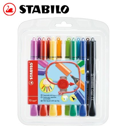 STABILO 德國天鵝 Cappi 人體工學 彩色筆^(168 12~1^) 12色