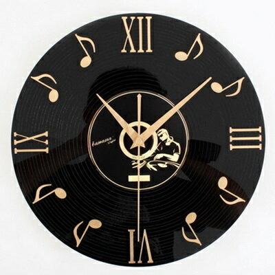 時鐘 藝術掛鐘-立體音符黑膠唱片創意壁鐘72z10【獨家進口】【米蘭精品】
