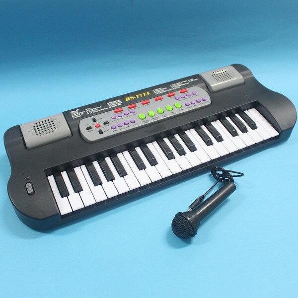 兒童電子琴 HS-777A 聲光電子琴 附麥克風(大37鍵.附電池)/一個入{促800}
