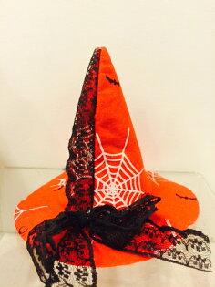 X射線【W530003】紅色巫婆帽PP夾,萬聖節/派對用品/舞會道具/cosplay/聖誕節/表演/情趣/園遊會/校慶
