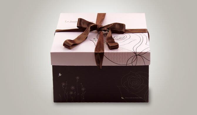 【零售量】手提方型蛋糕盒/感官花園粉紅10號/50個
