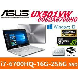 ASUS 華碩 UX501VW-0052A6700HQ 筆電 15.6/I7-6700HQ/16G/256G/GTX960M/WIN10