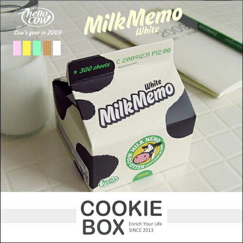 牛奶盒 抽取 便利貼 便條紙 新鮮屋 牛奶 綠茶 紙品 *餅乾盒子*