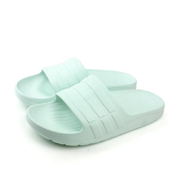 adidas 拖鞋 水藍色 男女鞋 no327