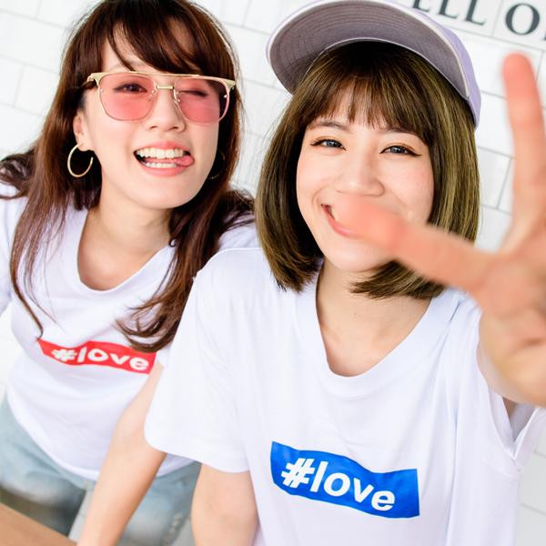 ◆快速出貨◆T恤.情侶裝.班服.MIT台灣製.獨家配對情侶裝.客製化.純棉短T.#love【Y0206】可單買.艾咪E舖 0