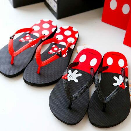 正版迪士尼人字拖 米奇 米妮 米老鼠 卡通造型 人字拖 拖鞋 涼鞋 女鞋 台灣製造【B060959】