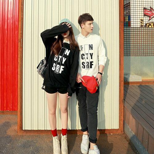 ◆快速出貨◆刷毛T恤 圓領刷毛 情侶T恤 暖暖刷毛 MIT台灣製.FN中框英文字【YS0395】可單買.艾咪E舖 2