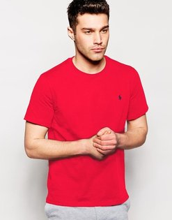美國百分百【全新真品】Ralph Lauren 男款 素面 短袖 T恤 T-shirt 圓領 RL polo 小馬 紅色 B018