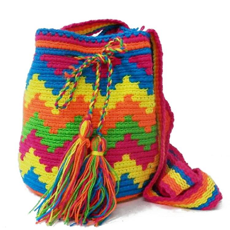 買一送一^! 好來塢熱浪小騷包^(七彩色^) 加贈彩虹編織小包^(價值 350^) ~