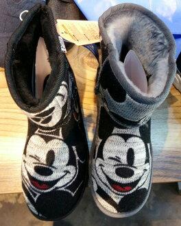 韓國【Ollie雪靴 大頭米奇短靴 / 親子靴】