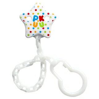 『121婦嬰用品館』PUKU 棉花糖奶嘴鍊 - 白色 0
