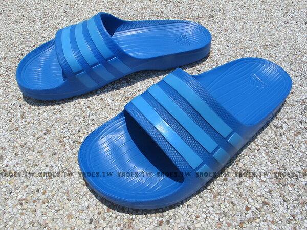 Shoestw【B44297】ADIDAS DURAMO SLIDE 拖鞋 一體成型 藍 天空藍 男女生都有