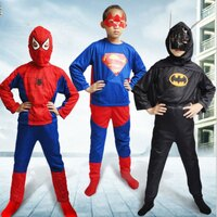 蝙蝠俠與超人周邊商品推薦tangyizi輕鬆購【DS061】小朋友蜘蛛俠超人蝙蝠俠造型衣 三件套 聖誔節 變裝萬聖節角色扮演 Cosplay party