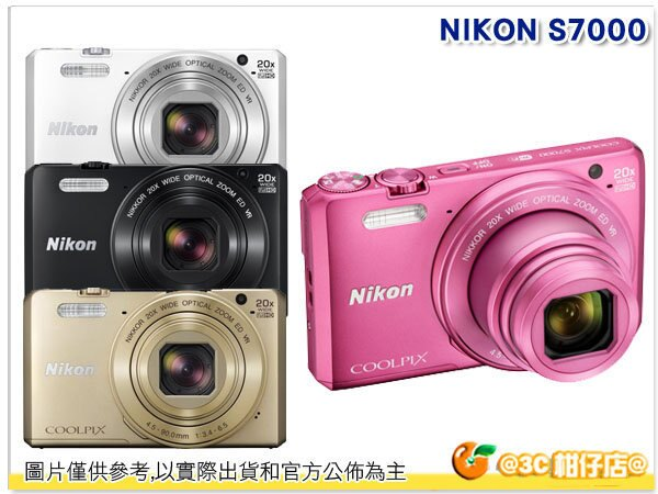 送16G+電池*2等11好禮 Nikon CoolPix S7000  國祥公司貨 隨身機 名片機