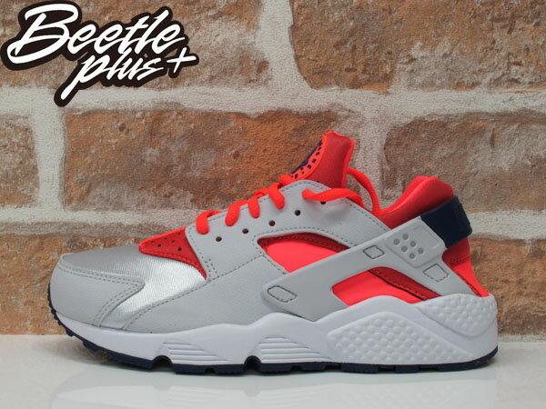 女生 BEETLE NIKE HUARACHE RUN GS 銀灰 粉桃紅 武士 慢跑鞋 634835-013