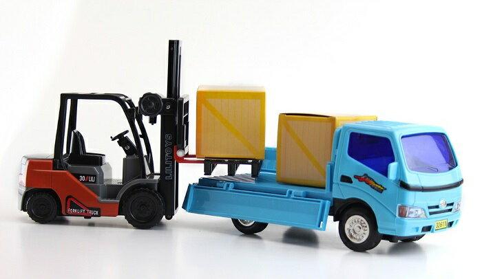 小小家 磨輪小堆高機+磨輪小貨車 32526 2