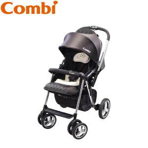 【本月贈市價$1780奶瓶組預購11月中到貨】日本【Combi】Mega Ride DX 嬰兒手推車-黑 (1~48個月) 1