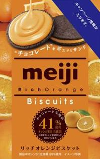 有樂町進口食品 日本明治Rich香橙餅乾 (96g)  J65 4902777224954