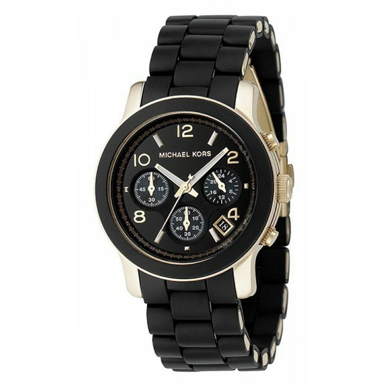 美國Outlet正品代購 MichaelKors MK 黑色橡膠 三環 運動風手錶腕錶 MK5191 2