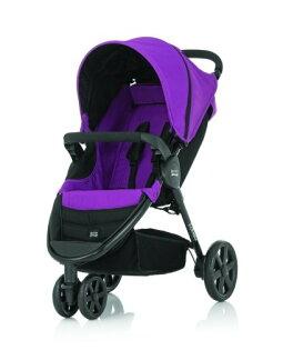 Britax - B-Agile單手收豪華三輪手推車 (紫) 加購Britax - Baby-Safe提籃享特價優惠!