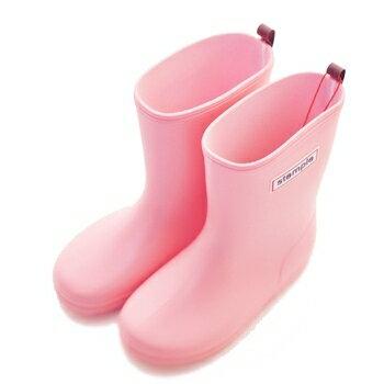 【本月贈鞋墊】日本【Stample】兒童雨鞋(馬卡龍粉) 0