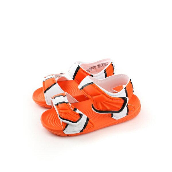 adidas 涼鞋 童鞋 桔色 小童 no319