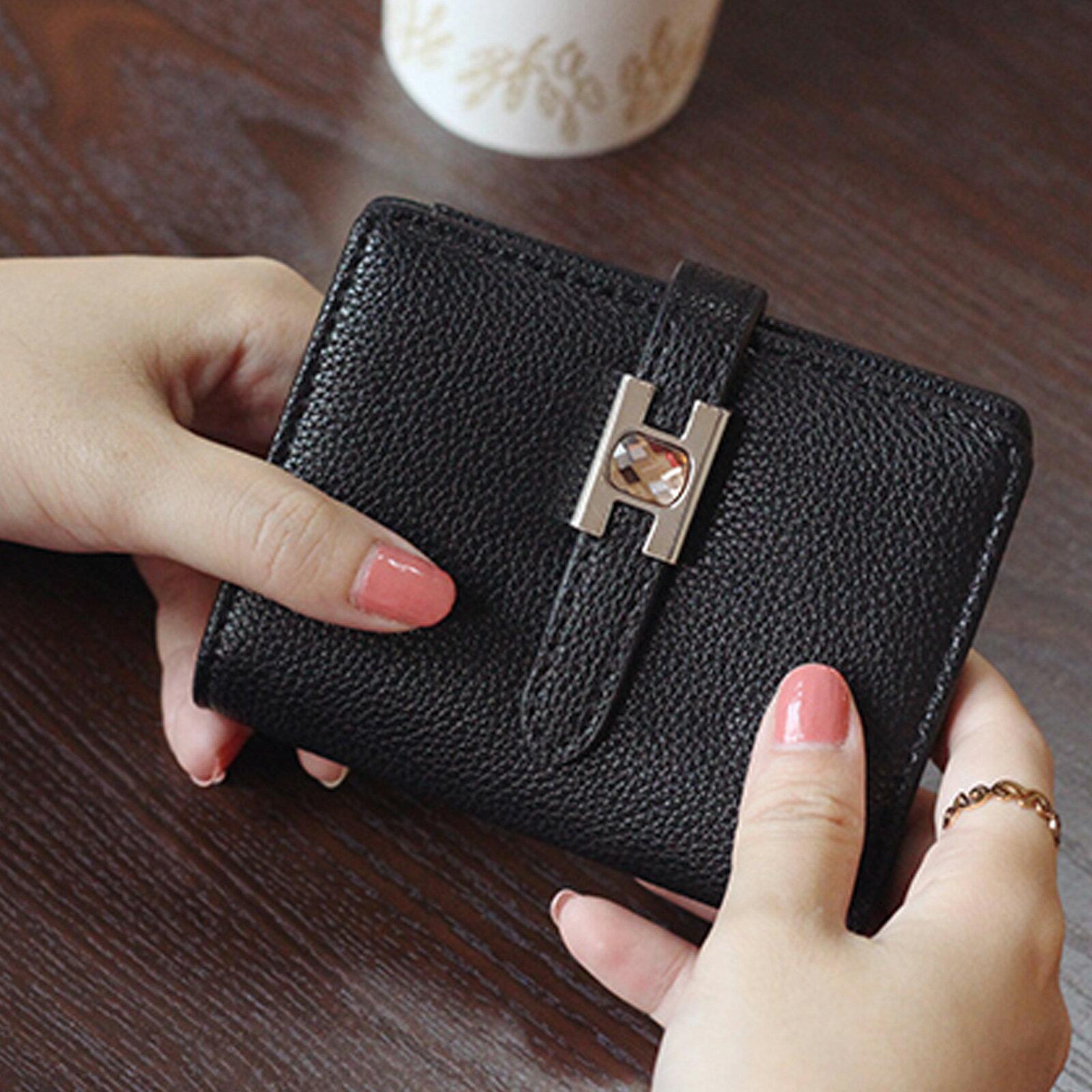 皮夾 錢包 超薄扣式短款錢包短夾【O3219】☆雙兒網☆ 3
