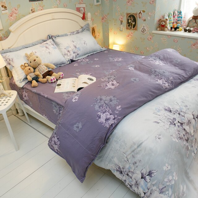 天絲床組  紫花風鈴木 多種尺寸組合賣場 100%木漿纖維 6