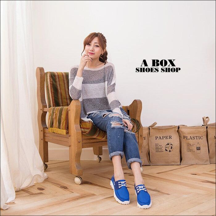 格子舖*【AA682】MIT台灣製 韓國雜誌風 網布拼接麂皮 鋸齒厚底綁帶休閒運動鞋 3色 1
