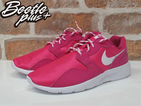 女生 BEETLE NIKE KAISHI RUN 粉紅 網布 透氣 輕量 粉底 白勾 慢跑鞋 705492-600 1