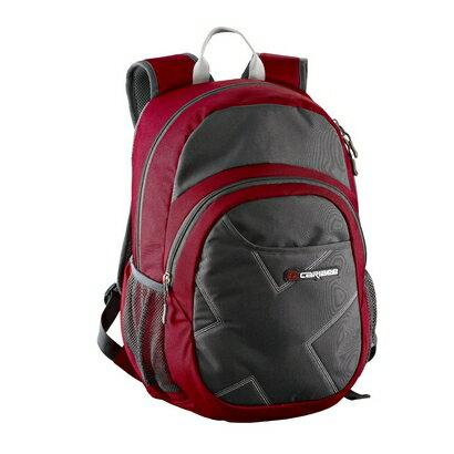 Caribee Deep Blue Backpack (red/charcoal) 0