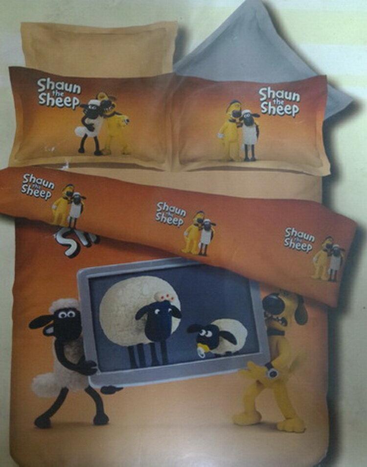 [床工坊] -(官方授權迷迷羊)法蘭絨四件組(加贈授權版暖暖被) 2