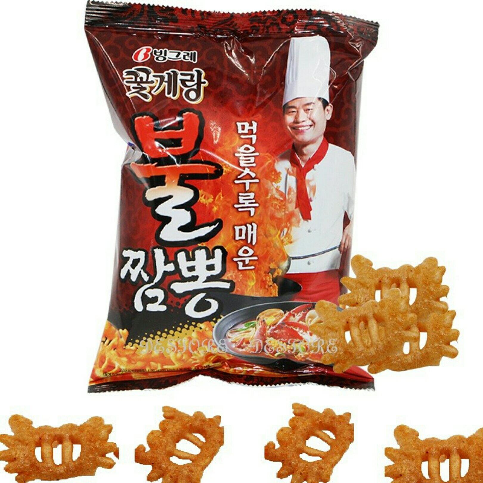 有樂町進口食品 韓國版阿基師推薦 李連福螃蟹炒碼麵餅乾 70g 8801111919609 0