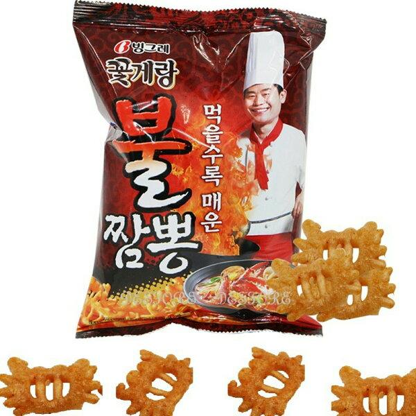 有樂町進口食品 韓國版阿基師推薦 李連福螃蟹炒碼麵餅乾 70g 8801111919609