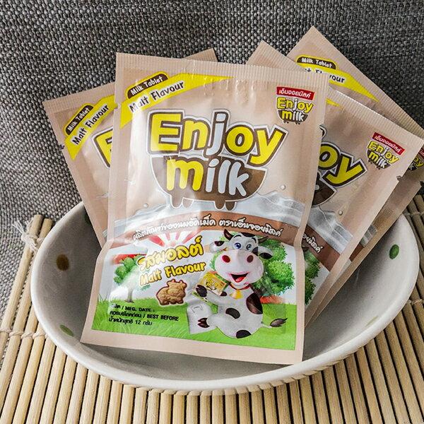 泰國零食 Enjoy milk營養牛奶片(巧克力麥芽) 1