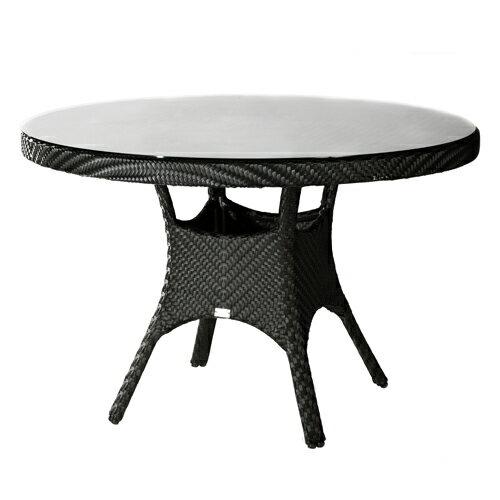 SALVADOR 薩爾瓦多 圓型餐桌 戶外家具【7OCEANS七海休閒傢俱】EXPRESSO 黑褐色