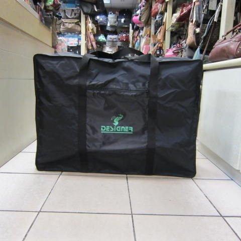 ~雪黛屋~DESIGNER 折疊收納袋 備用旅行袋 環保批發購物袋 可手提 可肩背超輕防水#綠(超大型)