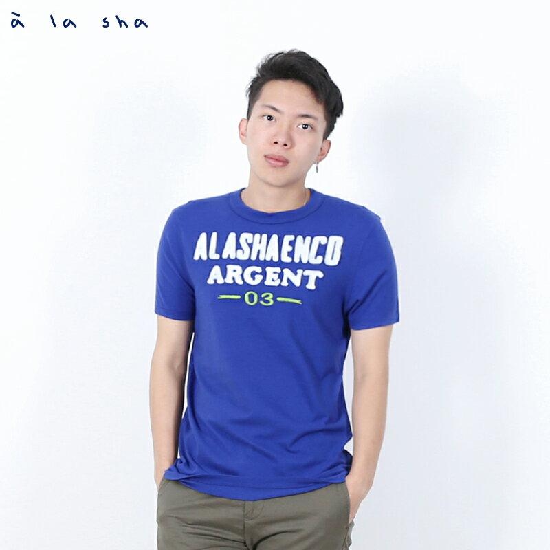 a la sha enco 字母和數字圖圓領短T(男) 0