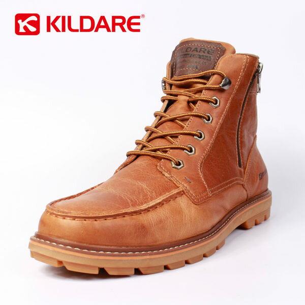 Kildare 巴西  中高筒綁帶休閒男靴 咖啡 男 0