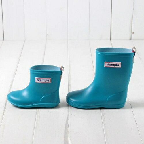 【本月贈鞋墊】日本【Stample】兒童雨鞋(天空藍) 1