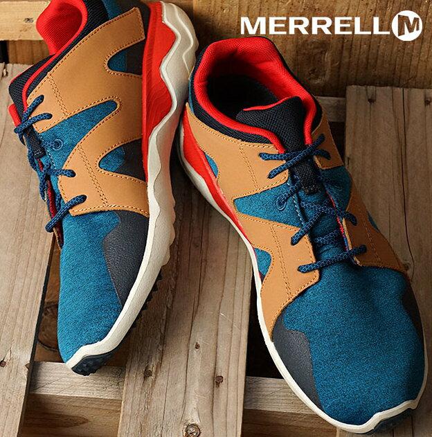 MERRELL 1SIX8 LACE 男 休閒鞋 藍咖啡 健行鞋│休閒鞋│運動鞋 0