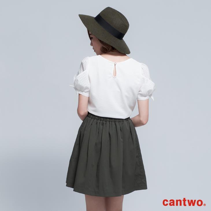 cantwo名媛風珠飾公主袖上衣(共三色) 3