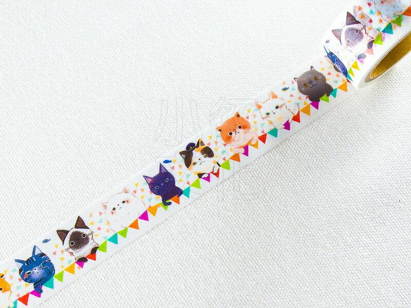 ~小徑文化~  星空 Hoshizora 7th 原創和紙膠帶 ~ 很多很多貓 ^( HH