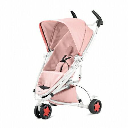 【淘氣寶寶】Quinny ZAPP xtra2 Pure 嬰兒手推車【白管支架粉】【保證公司貨●品質有保證●非水貨】