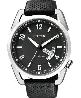 CITIZEN星辰AW0010-01E不敗典藏光動能腕錶/黑面42mm