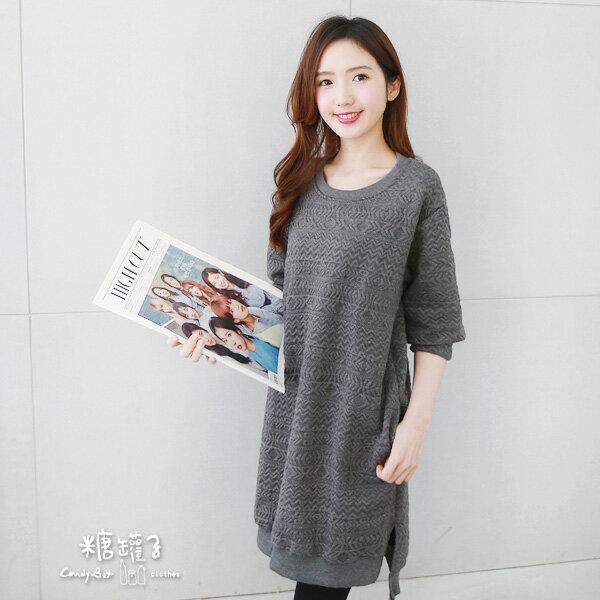 ★原價690五折345★糖罐子圖騰壓紋口袋洋裝→預購【E41212】 1