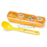 〔小禮堂〕蛋黃哥 日製湯匙《黃.點點.多料理》附掀蓋式靜音盒