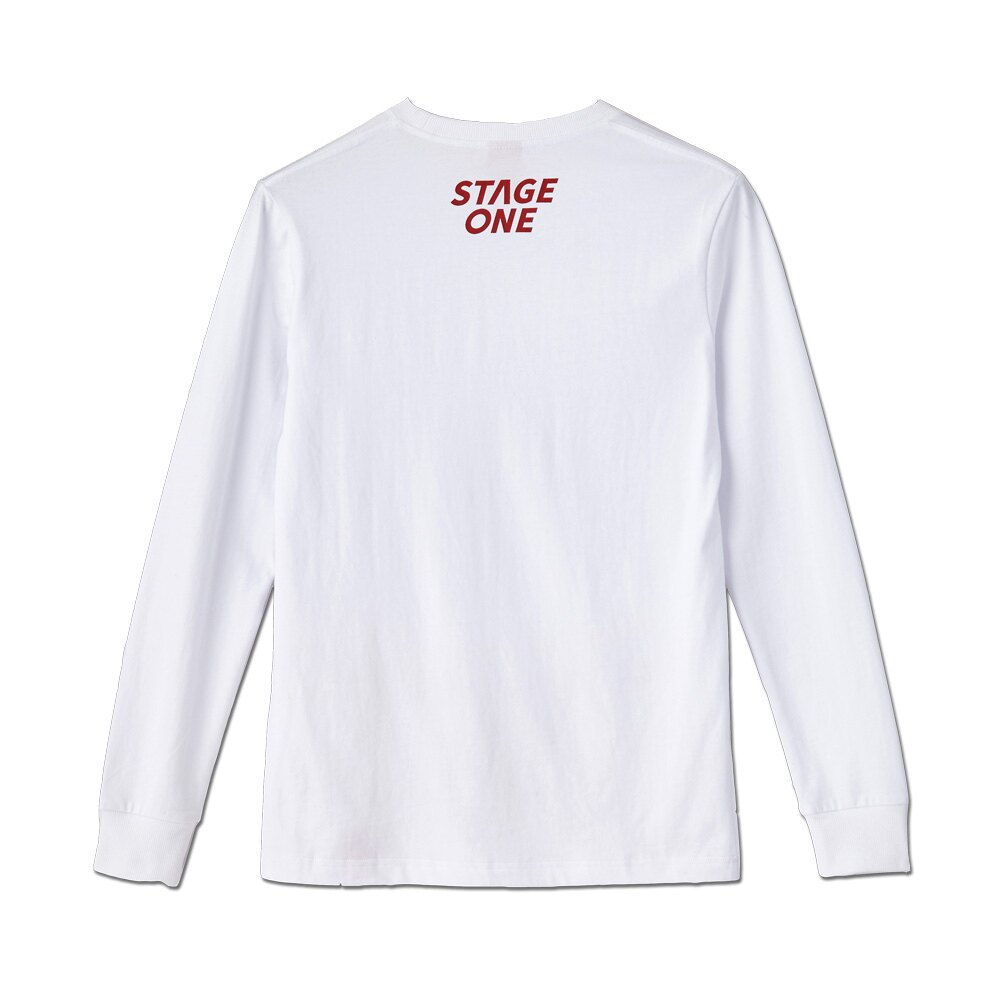 STAGEONE COLLEGE LS TEE 黑色 白色 兩色 5